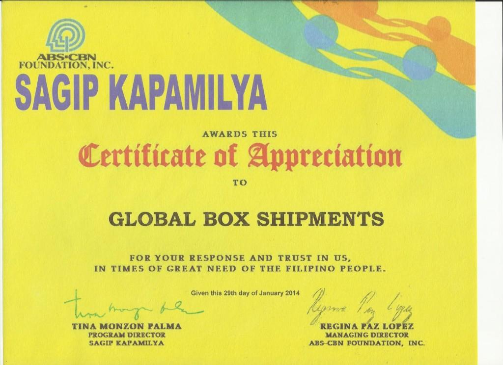 GBS Sagip Kapamilya Cert 001